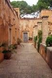 Piękny monaster Agia Triada w Crete, Grecja Fotografia Royalty Free