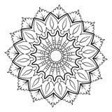 Piękny monochromatyczny mandala Heksagonalna gwiazda Wzór dla a Zdjęcia Royalty Free
