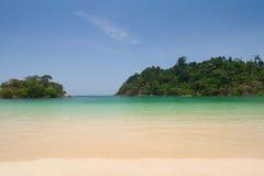 Piękny morze i niebieskie niebo przy Andaman morzem, Thailand Fotografia Royalty Free