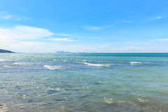 Piękny morze i perfect niebo Obrazy Royalty Free