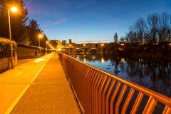 Piękny most w nocy Fotografia Stock