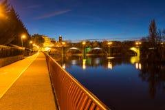 Piękny most w nocy Zdjęcia Stock
