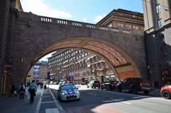Piękny most w Sztokholm, Szwecja Zdjęcia Royalty Free