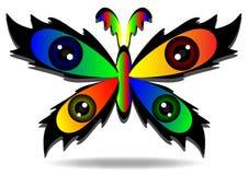 piękny motyli stubarwny Zdjęcia Stock