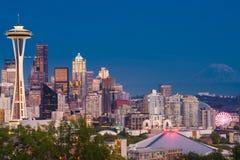Piękny Mroczny moment w Seattle Obrazy Royalty Free