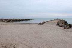 Piękny nadmorski Azov morze Zdjęcie Royalty Free