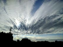 Piękny niebieskie niebo i chmura Fotografia Stock