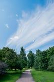 Piękny niebieskie niebo z chmurami Fotografia Royalty Free