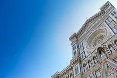 Piękny niebieskie niebo z Florencja Duomo Obrazy Royalty Free