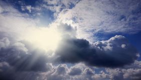 Piękny niebo Bóg promienie Fotografia Royalty Free