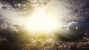 Piękny niebo Bóg promienie Obrazy Stock