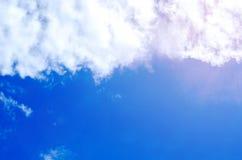 Piękny niebo, niebieskie niebo i lata niebo, Zdjęcie Royalty Free