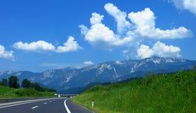 Piękny niebo w Alps Fotografia Royalty Free