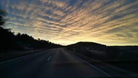 Piękny niebo w ranku Obrazy Royalty Free