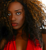 Piękny Nigeryjski model Fotografia Royalty Free