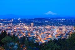 piękny noc Oregon Portland dukt Fotografia Stock