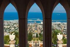 Piękny obrazek Bahai ogródy w Haifa Izrael Fotografia Stock