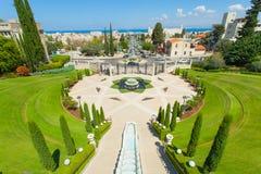 Piękny obrazek Bahai ogródy w Haifa Izrael Obraz Royalty Free