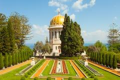 Piękny obrazek Bahai ogródy w Haifa Izrael Obraz Stock