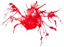 Piękny odszukany akwareli splatter Obrazy Royalty Free