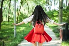 Piękny orientalny dziewczyna plecy Obrazy Royalty Free