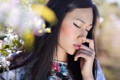 Piękny orientalny kobieta portret Fotografia Royalty Free