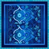 Piękny ozdobny geometryczny wzór z Islamskimi sztuka motywami Zdjęcie Stock