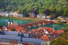 Piękny panorama widok Heidelberg, Niemcy zdjęcia stock