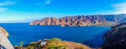 Piękny panorama widok Santa Marta, Kolumbia Zdjęcie Stock