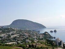 Piękny panoramiczny widok na Gurzuf i Dag Obrazy Royalty Free