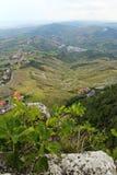 Piękny panoramiczny widok od wzgórza San Marino Zdjęcia Royalty Free