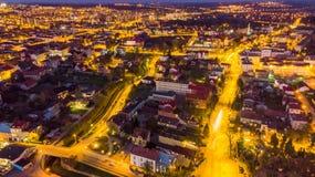 Pi?kny pejza? miejski Tarnowski w Polska, widok z lotu ptaka zdjęcia royalty free