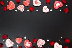 Piękny piernikowy serce Zdjęcie Royalty Free