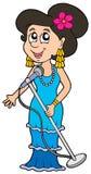piękny piosenkarz royalty ilustracja