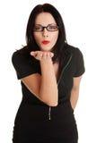 piękny podmuchowy biznes kobieta Zdjęcia Royalty Free