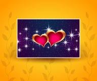 Piękny powitanie sztandar z sercami Fotografia Royalty Free