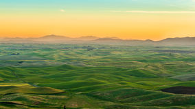 Piękny ranek w Palouse Obrazy Royalty Free