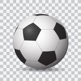 Piękny realistyczny ocieniony wektorowy futbol na przejrzystym tle royalty ilustracja
