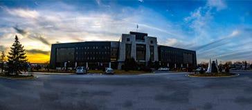Piękny rektorata budynek Afyon Kocatepe uniwersytet Zdjęcia Stock