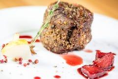Piękny restauracyjny jedzenie fotografia royalty free