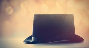 piękny retro czarny kapelusz Obrazy Stock