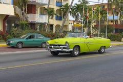 Piękny retro samochód w Kuba Zdjęcie Stock