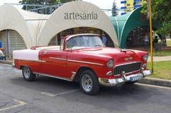 Piękny retro samochód w Kuba Fotografia Stock