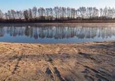 Piękny rzeczny Desna, Ukraina zdjęcia stock