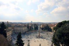 Piękny rzymski miasto krajobraz Rome z dziejowymi budynkami Obraz Royalty Free