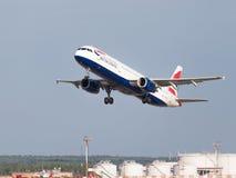 Piękny samolot Airbus A321-231 British Airways Obraz Royalty Free