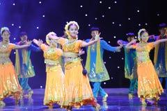Piękny sari---Taniec India Zdjęcia Royalty Free