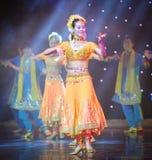 Piękny sari---Taniec India Fotografia Stock