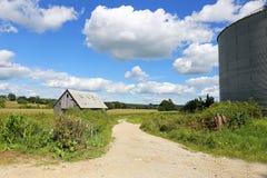Piękny Sceniczny krajobraz Stary Rolny jaty i adry magazynu Bi Fotografia Royalty Free