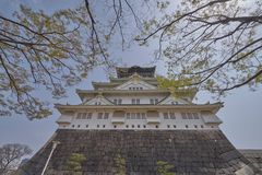 Piękny Sceniczny Osaka kasztel Zdjęcia Stock